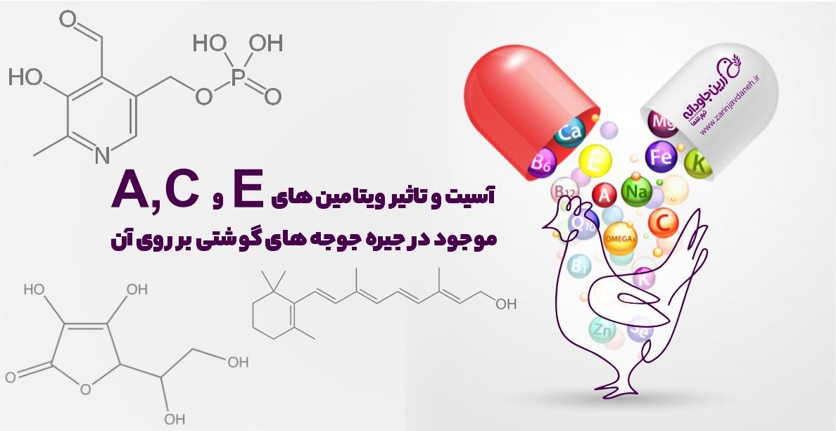 آسیت و تاثیر ویتامینهای A، C و E موجود در جیره