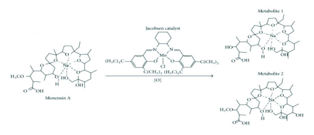 ساختار شیمیایی موننسین